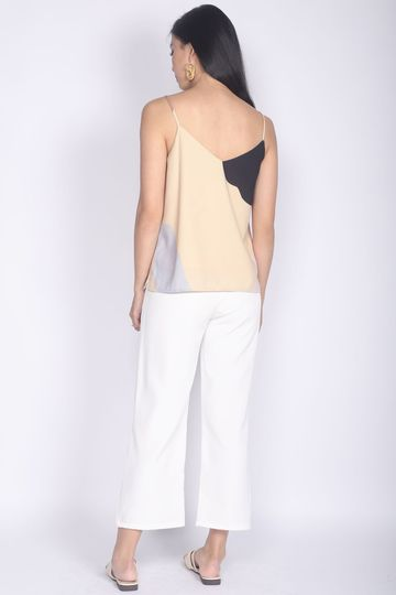 *Restocked* Mariot Abstract Camisole Top In Pale Yellow