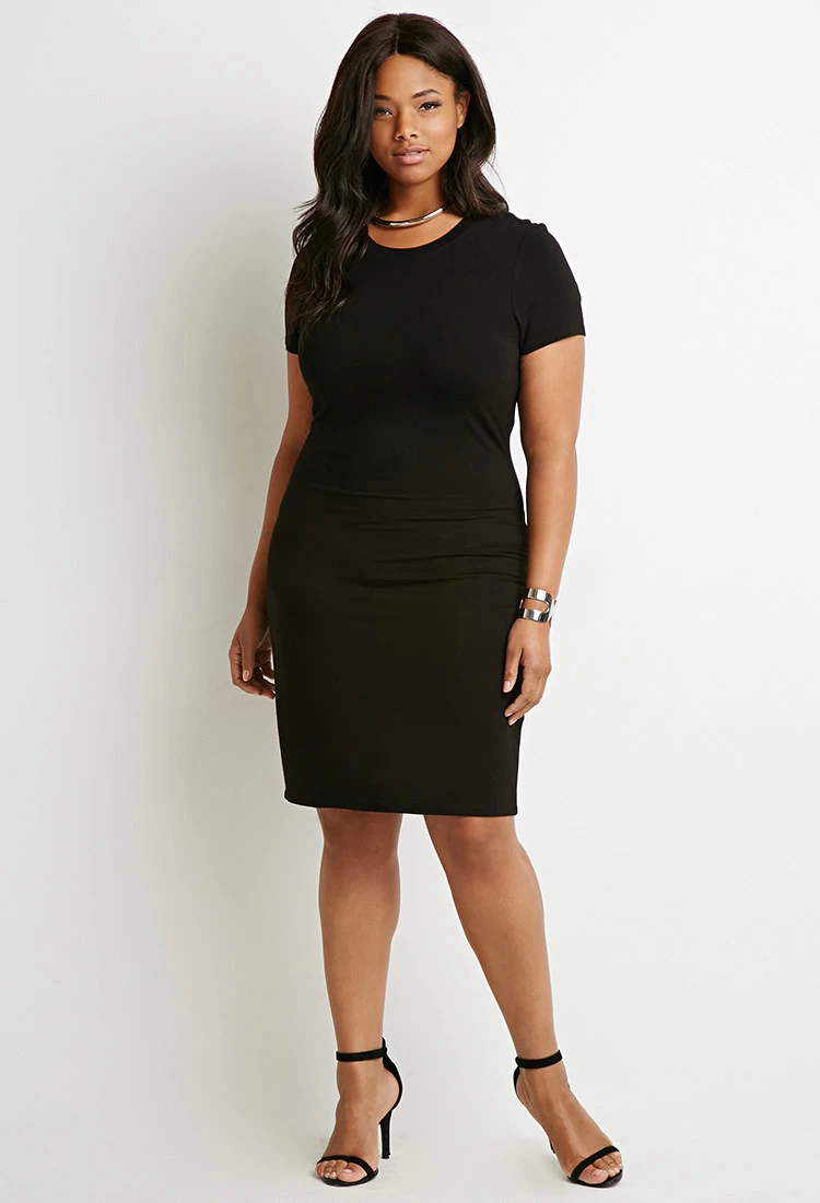 forever 21 plus size t shirt dress
