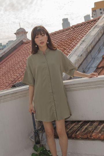 Don And Go Dress in Clary Sage