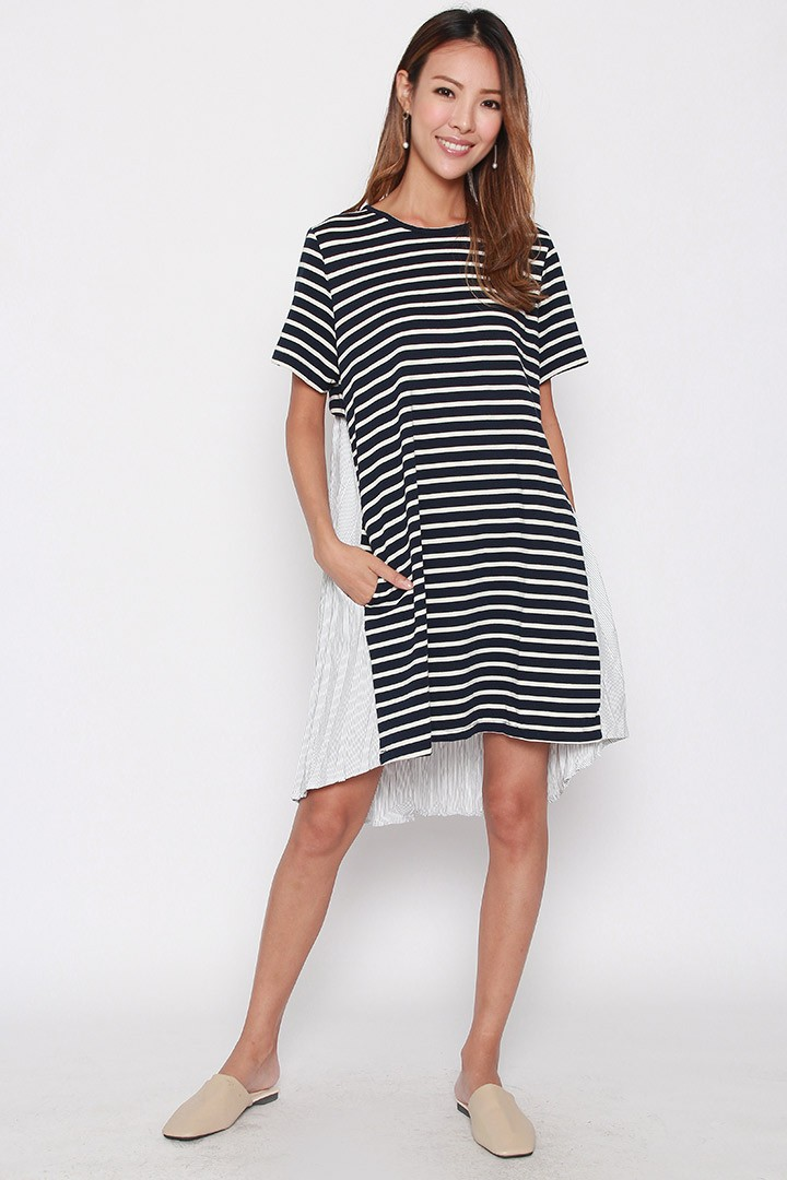 Keina Stripe Tie Back Dress