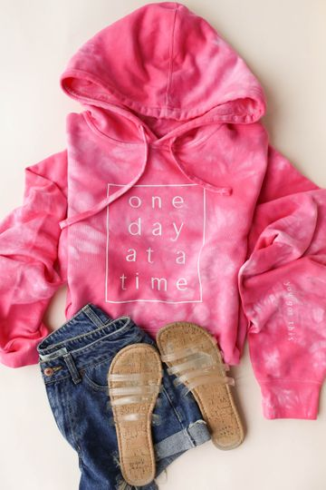 One Day At A Time/You Got This Tie-Dye LILAH Hoodie *Final Sale