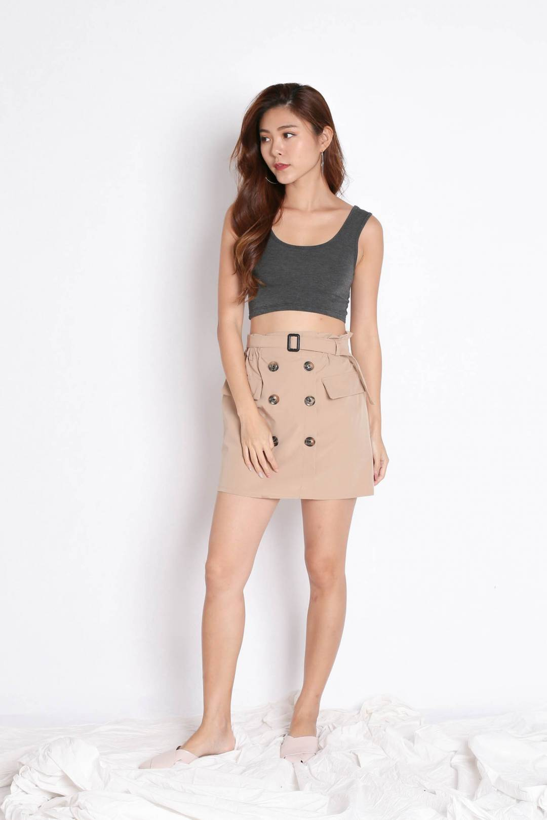 TRENCH SKORTS IN SAND