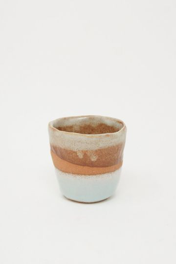 Whiskey Cup in Cream/Brown/Rust/White/Sage