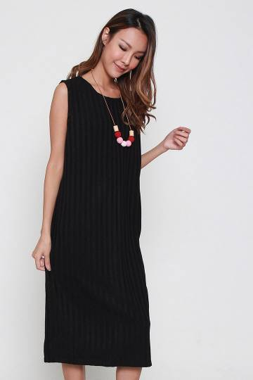 Gemma Knit Dress in Black