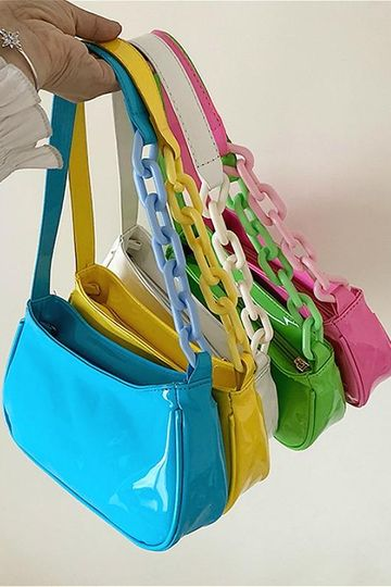 Molly Leather Colorful Clutch Purse