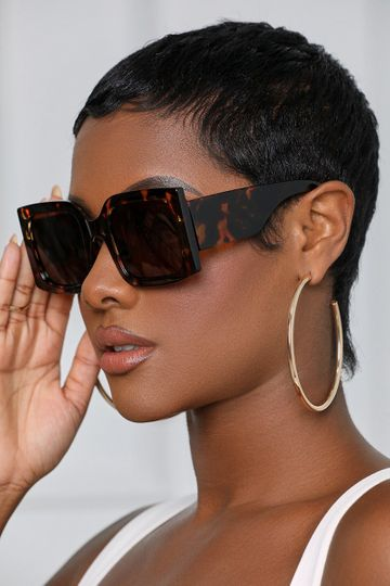 Retro Thick Frame Sunglasses (Tortoise)