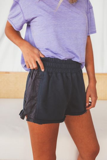 free people movement: half way there shorts - new navy