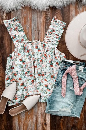The Floral Flowy Tank