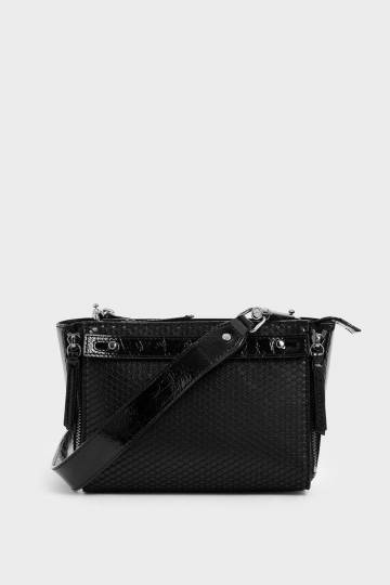Rectangle Mesh Crossbody Bag