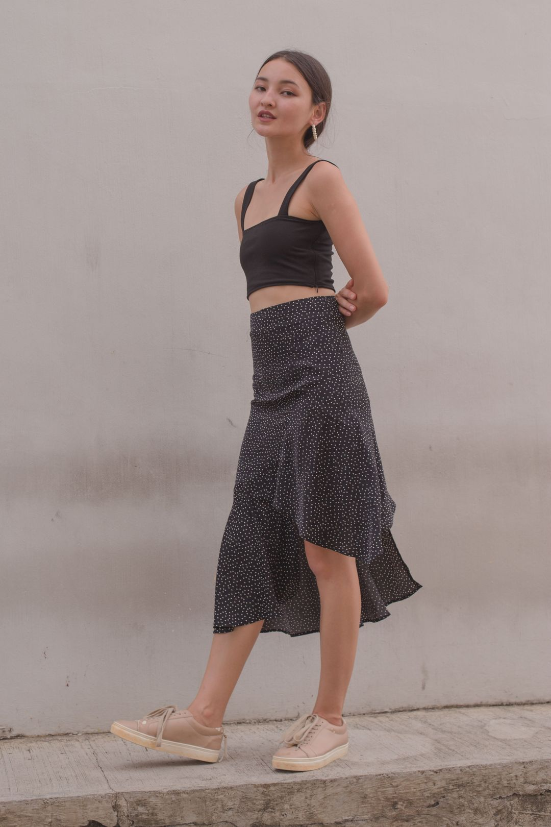 Highs And Lows Skirt in Black