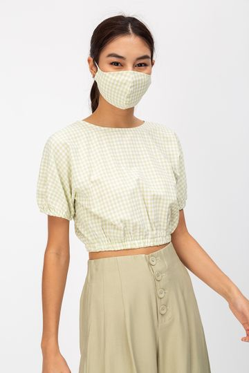 GINGHAM DOTTED REUSABLE FACE MASK