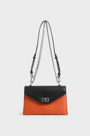 Two-Tone Envelope Bag