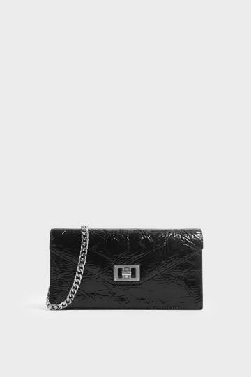 Wrinkled Patent Long Envelope Wallet