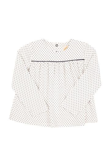 Dowell Day Top (Long Sleeve) - Nantucket Navy Micro Dot with Nantucket Navy
