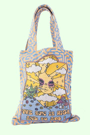 The Sun Is High Woven Tote