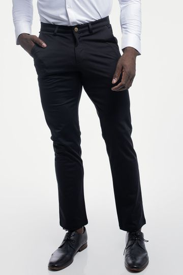 Anything Chino in Straight Black