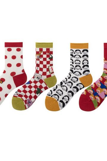 The Fear Has Many Faces Sock Set  4 Pairs/Lot
