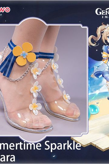 【Pre-sale】Uwowo Game Genshin Impact Barbara Summer Outfit Summertime Sparkle Cosplay Shoes