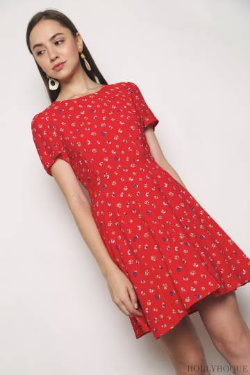 La Fleur Dress Red