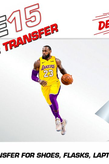 LEBRON STICKER HEAT ACTIVATED TRANSFER FOR SHOES, LAPTOPS, FLASKS ETC