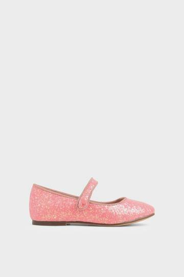 Girls' Glitter Mary Jane Flats
