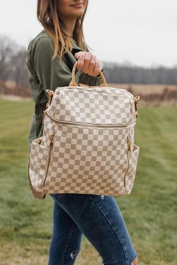 Chloe Checkered Convertible Backpack (3 colors)