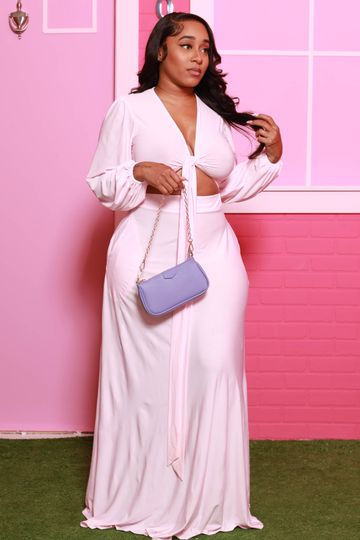 Lost In Love Maxi Skirt Set - Soft Pink