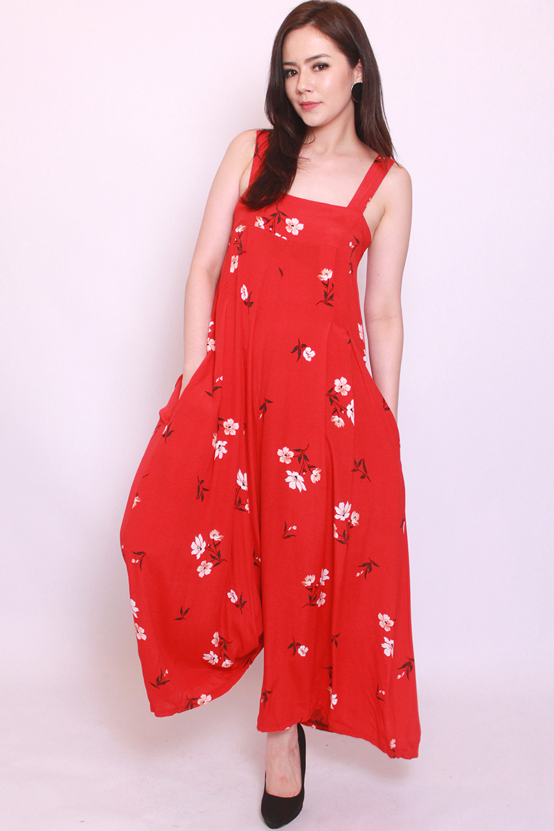 Moira Jumpsuit in Red