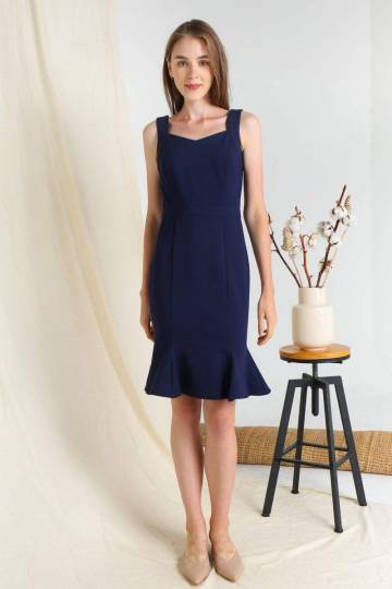 LINEA NAVY MERMAID PONTE DRESS