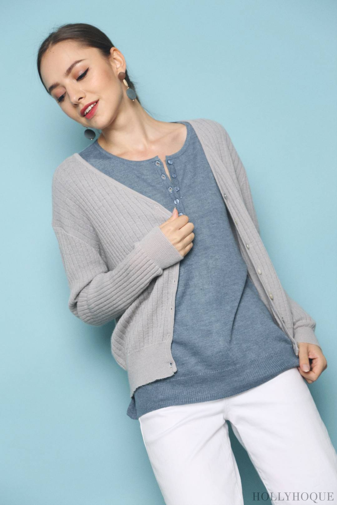 Denise Soft Cardigan Grey