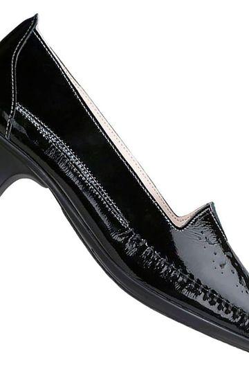 SAS Shoes - Sonyo Block Heel Dress Moccasin Pump - Womens Vcut Floral Cutout Dress Shoes