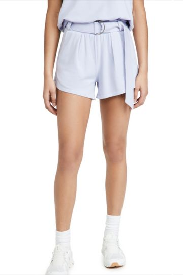 PLEATED SHORTS [PERIWINKLE]