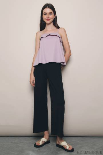 Sable Strappy Top Lilac