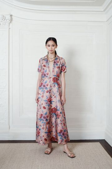 The Pearl Dress | Cotswald Garden Print