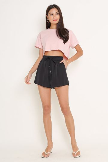 *BACKORDER* CASSIE CROPPED TOP (CANDY PINK)