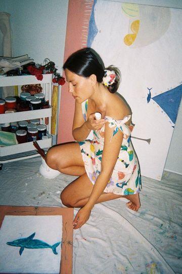 VRG GRL x ELLE MÚSA Le Soleil Tie Up Mini Dress // Print