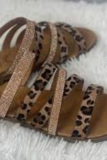 Very G A Reason Animal Print Sandals in Rose Gold