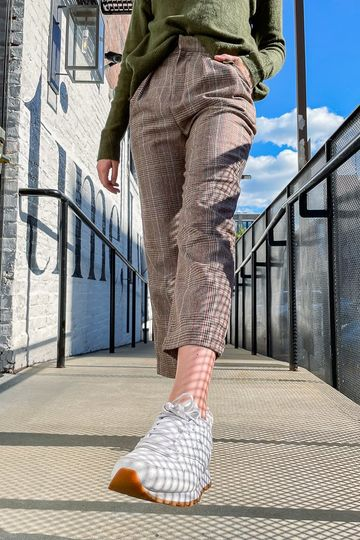 Stay Plaid Tapered Trousers