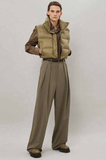Tansy Pleated Trousers - Olive