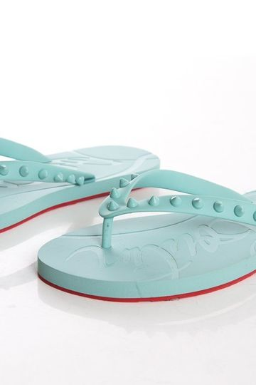 Christian Louboutin Teal & Red Sandals SZ 38