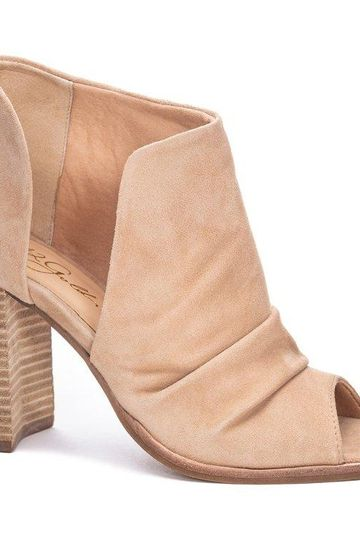 42 Gold - Loyalty Peep Toe Bootie - Natural