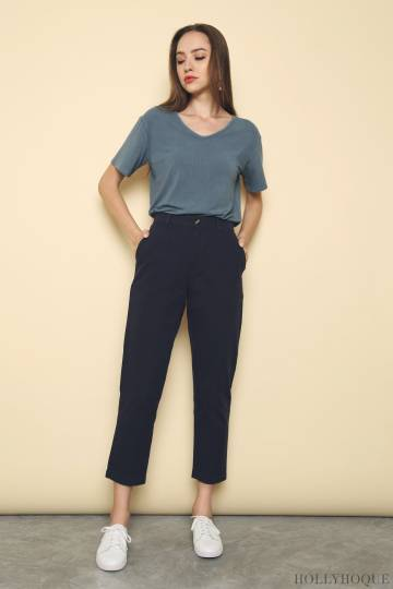 Ronine Cropped Pants Navy