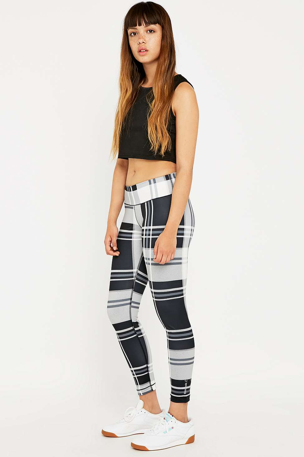 45793a5355e22 Reebok Plaid Yoga Leggings. From Urban Outfitters
