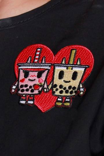 9559 BOBA LOVE IRON-ON PATCH