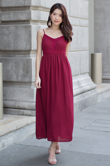 Kayse Maxi Dress (Wine)