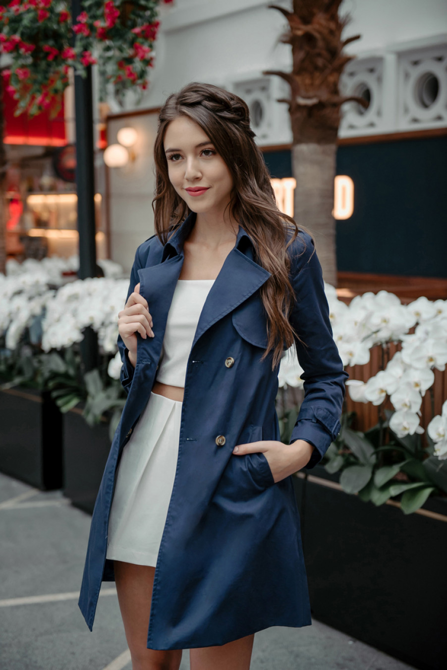 *BACKORDER* Travel Theory Trench Coat (Navy)