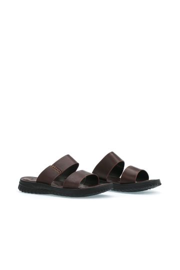 Double Wide Strap Slide Sandals