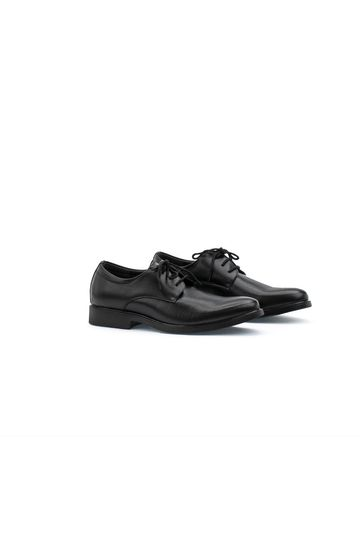 Brushed Leather Derby Dress Shoes