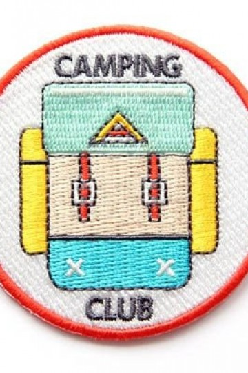 Camping Club Iron On Patch