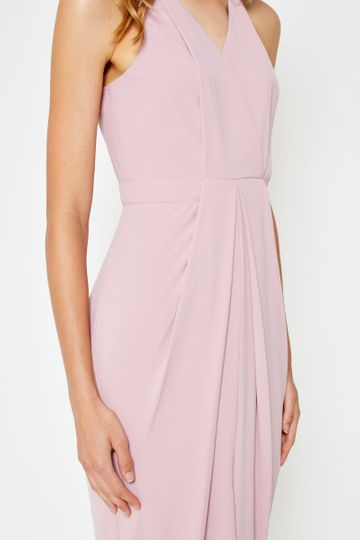 LESLIE WRAP FOLDOVER DRESS